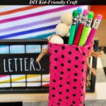 Upcycled Washi Tape Pencil Holder Easy Kids Craft Using Juicy Juice Boxes
