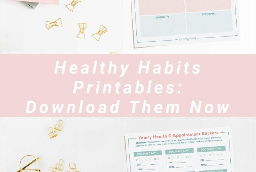 Healthy Habits Printables