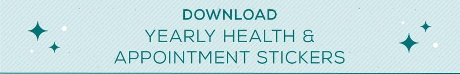Download Yearly Heath & Appointment Stickers Button
