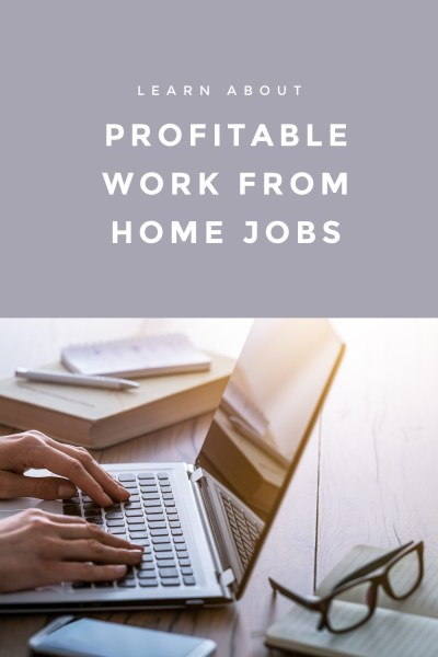Profitable Work from Home Jobs