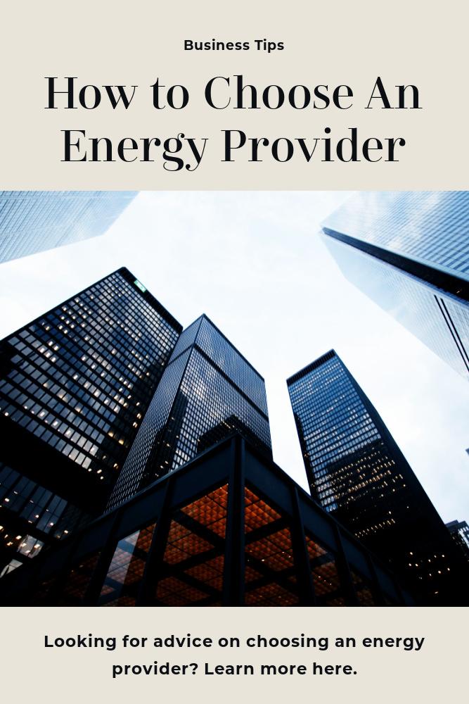 Energy Provider Tips for Businesses