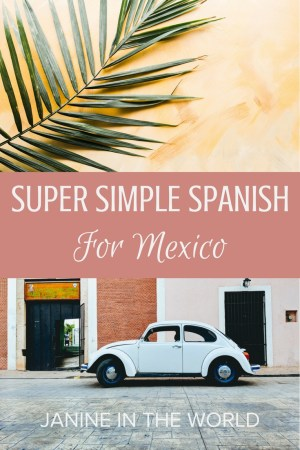 No Spanish? No problem. This is a non-Spanish speaker's survival guide for visiting Mexico. These simple phrases will get you everywhere you need to go. Pin it for your reference!