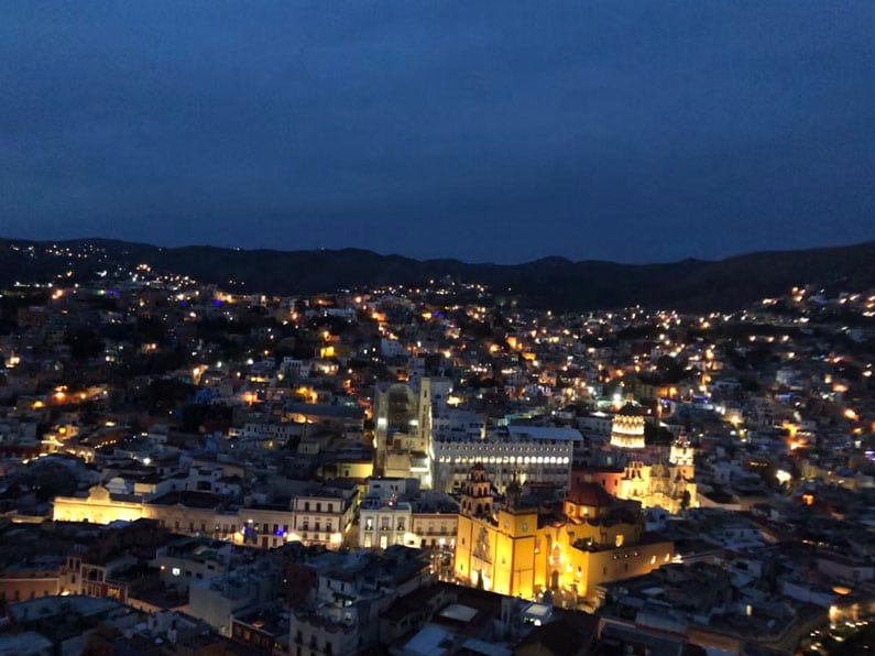 Guanajuato City by night