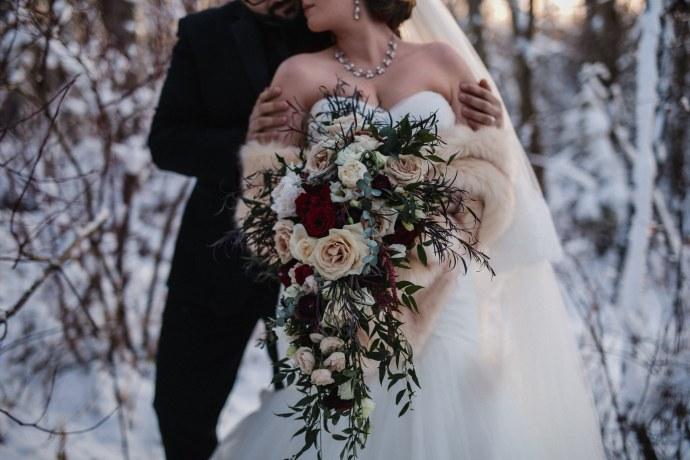winter wedding alberta