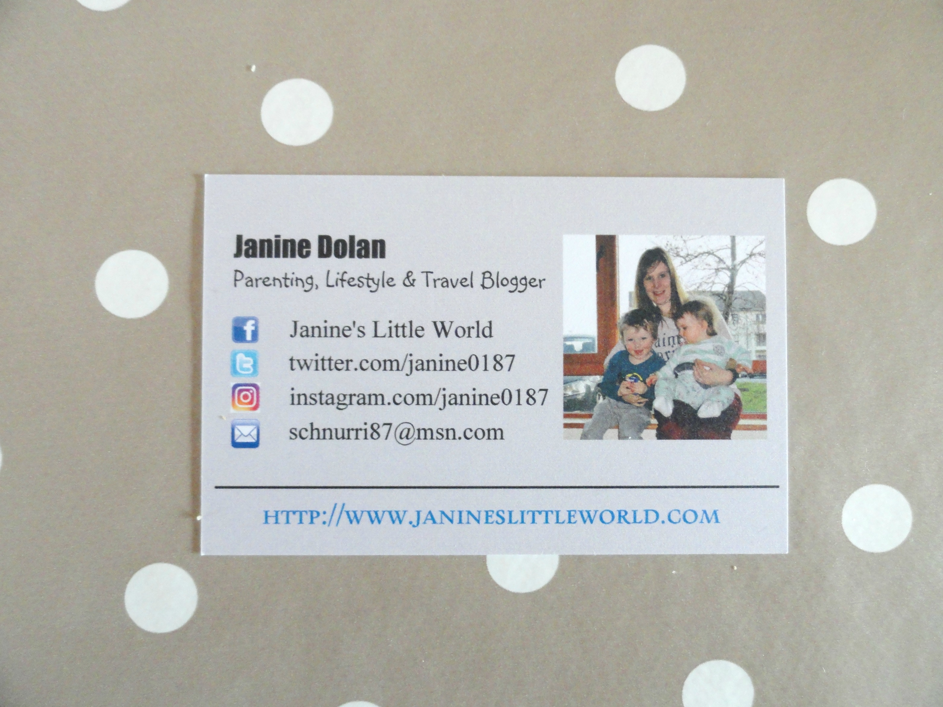What Is On My BBC {Blogger Business Card}? | Janine\'s Little World