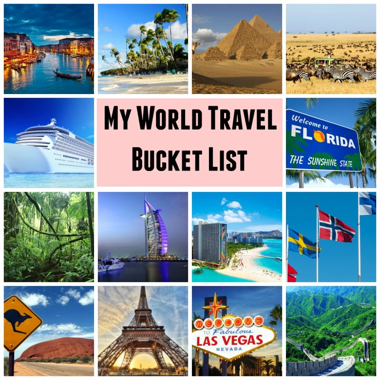 World Travel Bucket List