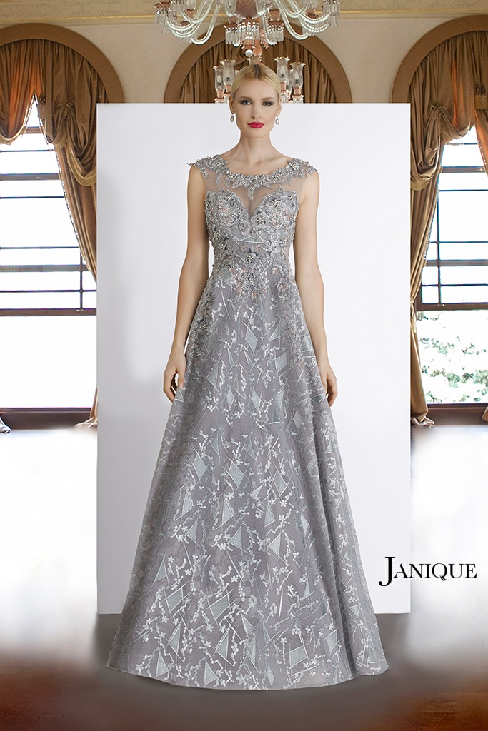 85124 Janiquebyk Special Occasion Pageant Dress In Gray