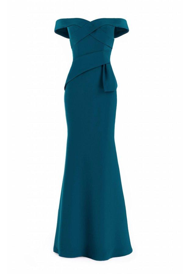 16214 off shoulder gown