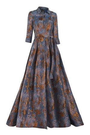 Jacquard Shirt Waist Dress