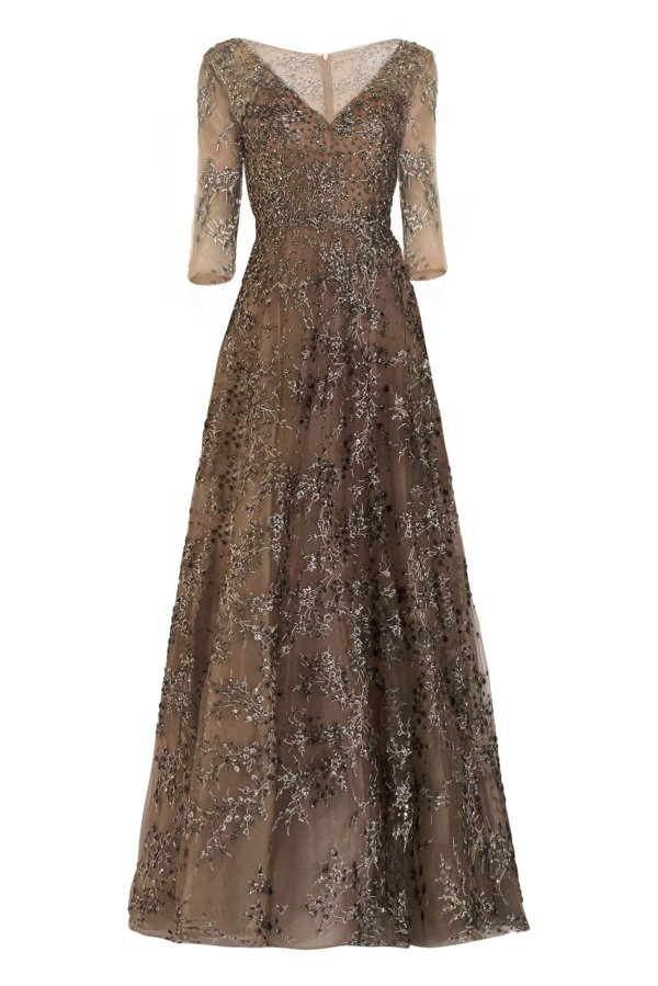 Classic Bead Adorned Gown