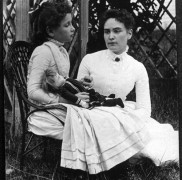 Helen Keler with Anne Sullivan
