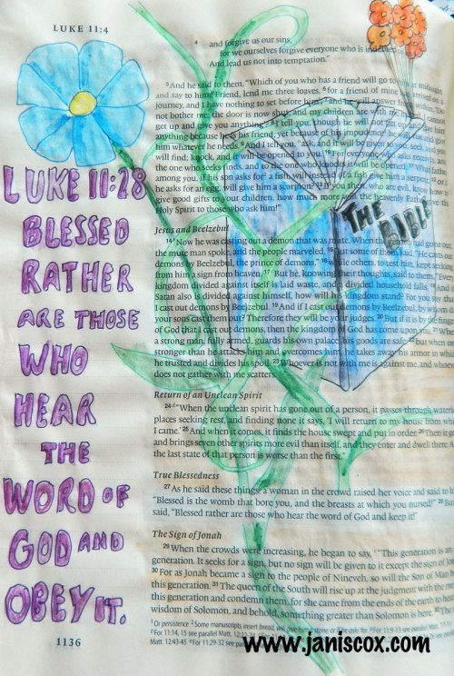 Bible painting - Hebrews 11:28