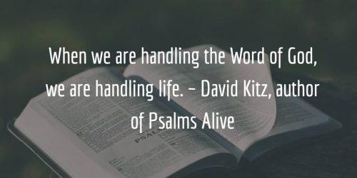 Psalms come alive