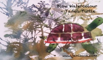 Blowing Watercolour tAdeo Turtle