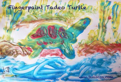 Fingerpaint Tadeo Turtle