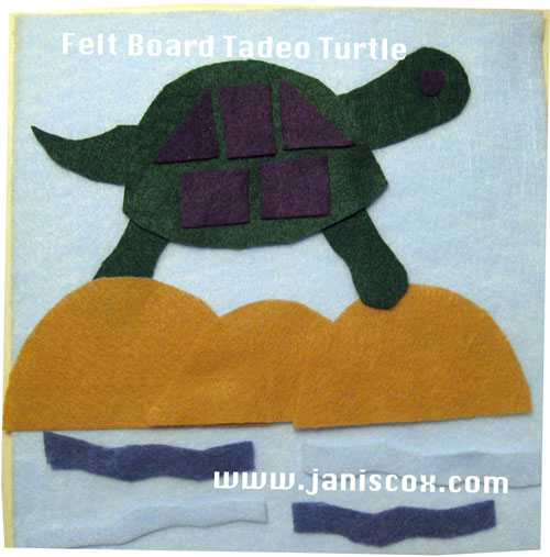 Felt Board Tadeo Turtle