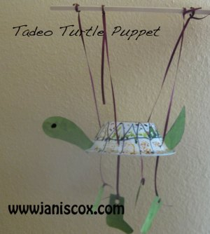 Finished Tadeo Turtle puppet