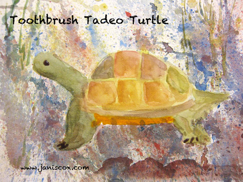 Spatter Painting - tadeo turtle