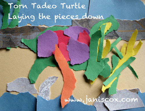 Torn Tadeo Turtle - lay the pieces down