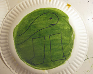 Draw parts on plate for turtle