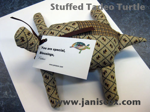 Finished Stuffed Tadeo Turtle