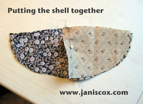 sewing shell together - tAdeo Turtle