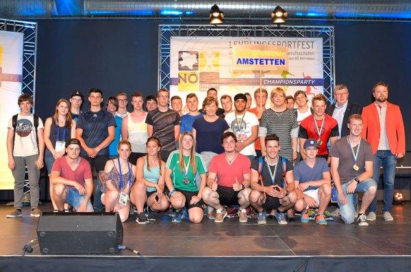 Lehrlingssportfest 2017 Gruppenbild