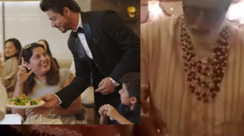 sharukh khan serving food in isha ambani marriage