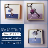 Some of the Janmary Designs vintage style necklaces delivered today to Willow Cards & Gifts, Moira