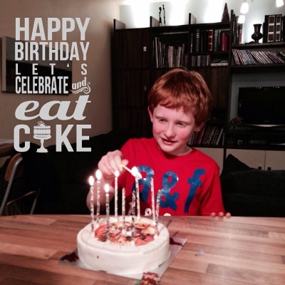 On being nine – the birthday boy!
