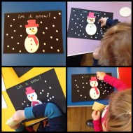 Easy toddler snowman craft