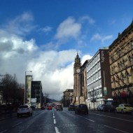 Victoria St and the Albert Clock, Belfast