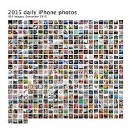 My daily iPhone photos for 2015
