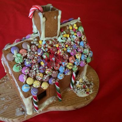 Gingerbread house complete!
