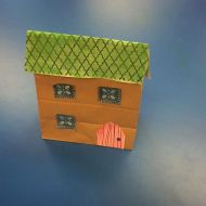 Very cute wee house made out of a paper bag at Toddler Group today