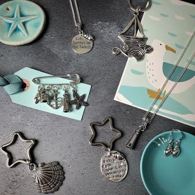 Life is better at the beach….selection of coastal themed collection by Janmary Designs