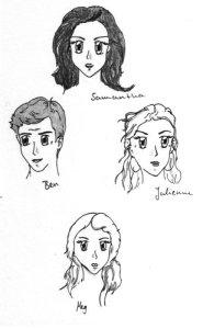 Samanthas Familie: Ben, Julienne und Meg Collins