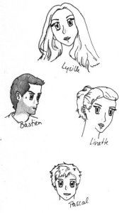 Lysilles Familie: Bastien, Linette und Pascal de Cerque