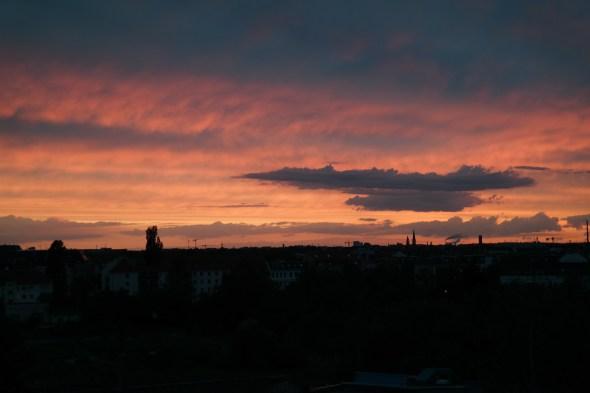 Zonsondergang Leipzig