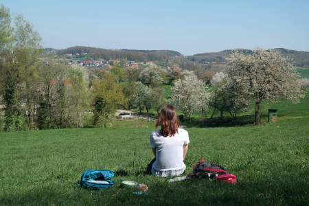 Kersenbloesem wandelen Hagen amTeutoburger Wald