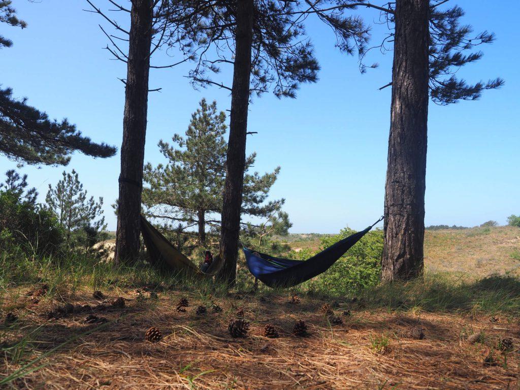 Met de hangmat in Nationaal Park Zuid-Kennemerland