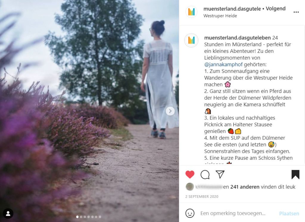 Instagram Takeover Münsterland post