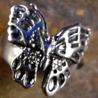 vlinder butterfly silver zilver ring