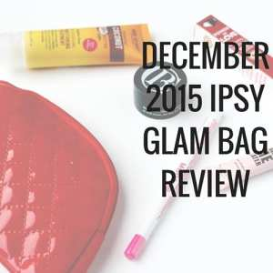 December 2015 Ipsy Glam Bag Review: Model Co Illusion Lip Liner, Pacifica Power of Love Powerful Color Natural Lipstick, Marc Anthony Hydrating Coconut Oil Shea Butter Deep Nourishing Conditioning Treatment, Elizabeth Mott Thank Me Later Eye Shadow Primer, and Clark's Botanicals Deep Moisture Mask.