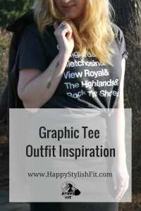 Graphic tee outfit inspiration to level up the classic jeans and tshirt look.