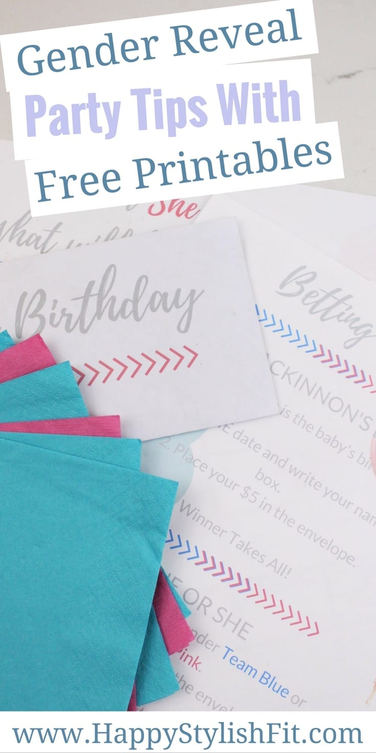 Gender Reveal Party Tips with free printables for some fun games for all of your guests.