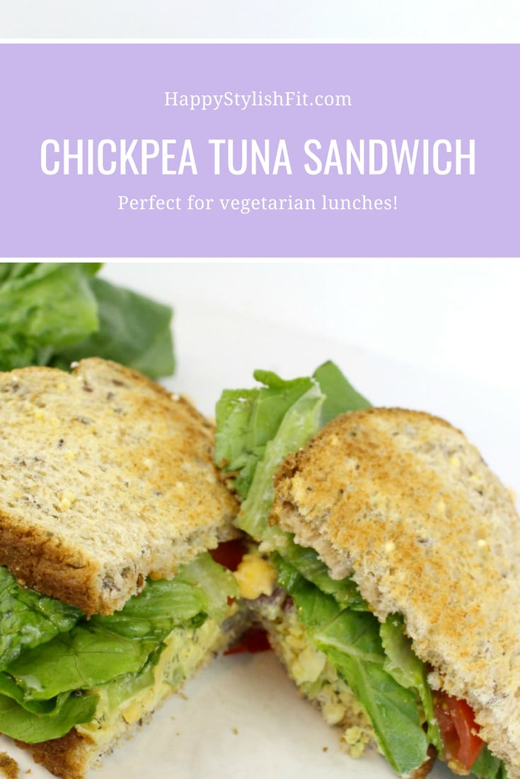 Tasty chickpea tuna sandwich. Perfect for healthy lunches for vegetarians and vegans!