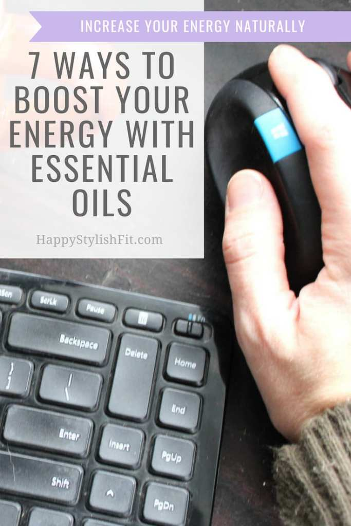7 ways to boost your energy with essential oils including diffuser blends and other DIY recipes to increase energy with essential oils. #EssentialOils #SimplyEarth #DIYEssentialOils #NaturalHome #EnergyBoost