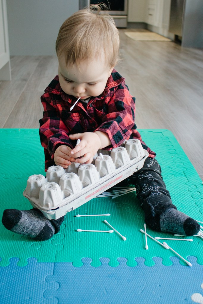 Work on that push pull motion with your baby with this great activity for 9 - 12 month olds.