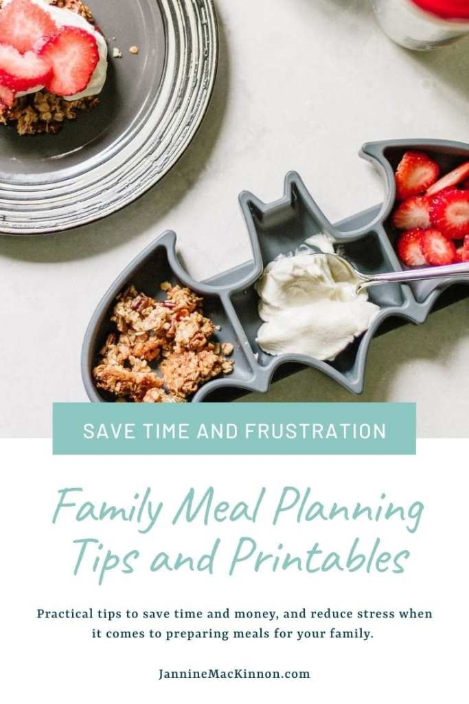 Family Meal Planning Tips and Printables